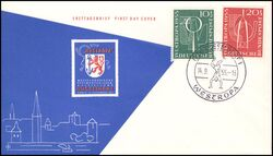 1955  Internationale Briefmarkenausstellung WESTROPA 1955