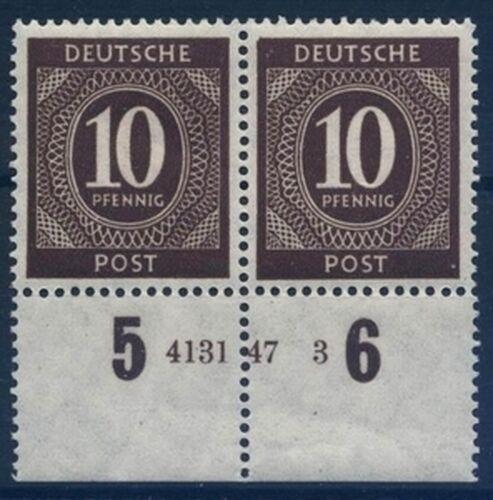 1946 Freimarken: Kontrollratsausgabe - Ziffern