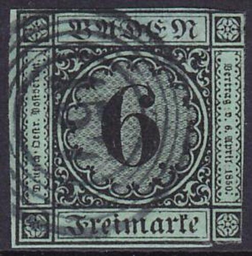 1851 Freimarke: Ziffer im Kreis