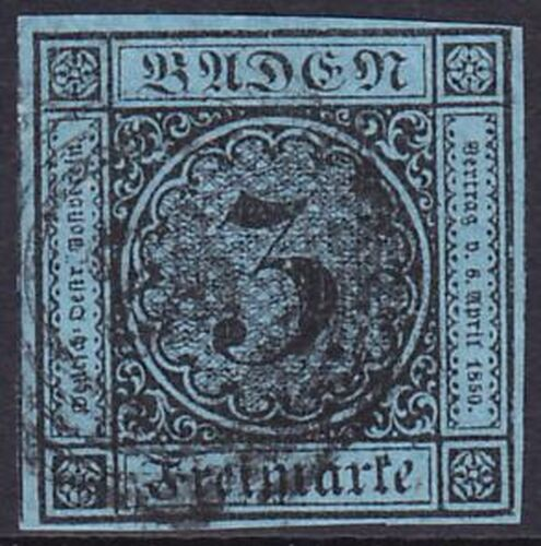 1858 Freimarke: Ziffer im Kreis