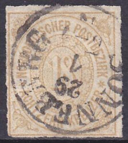 1868 Freimarke mit Guldenwährung
