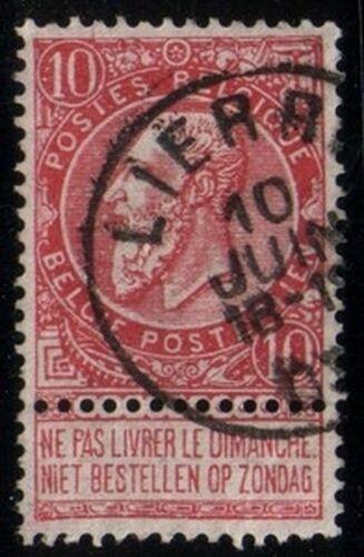 1897 Freimarke: König Leopold II auf sog. Zigarettenpapier