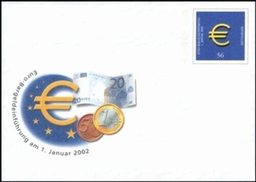 2002 Einführung des Euro als Bahrzahlungsmittel - Sonderumschlag