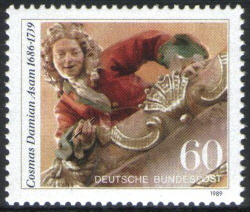 1989 Todestag von Cosmas Damian Asam - - Briefmarken-Versand-Welt.de