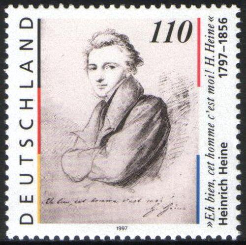 1997 geburtstag von heinrich heine briefmarken versand for Versand heine