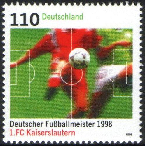 1998 deutscher fu ballmeister 1998 1 fc kaiserslautern briefmarken versand. Black Bedroom Furniture Sets. Home Design Ideas