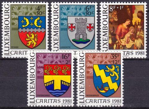 1981 caritas gemeindewappen weihnachten briefmarken. Black Bedroom Furniture Sets. Home Design Ideas