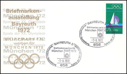 1972 Briefmarken Werben Für München 1972 Bayreuth
