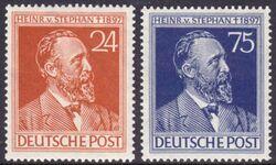 1947 50 Todestag Von Heinrich Von Stephan Briefmarken Versand