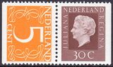 1974  Freimarken: Königin Juliana / Ziffern
