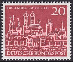 1958 800 Jahre München Briefmarken Versand Weltde