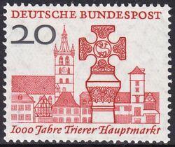 1958 1000 Jahre Trier Hauptmarkt Briefmarken Versand Weltde