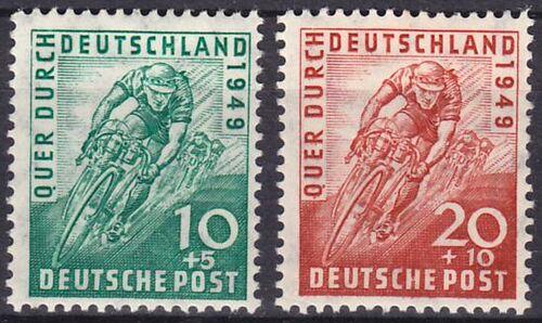 1949 radrennen quer durch deutschland briefmarken for Versand deutschland
