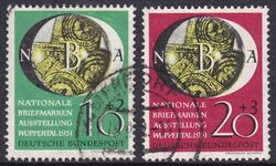 1951  Nationale Briefmarkenausstellung Wuppertal -