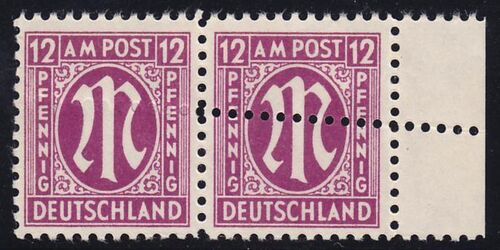 1945 freimarke am post deutscher druck mit doppelz hnung. Black Bedroom Furniture Sets. Home Design Ideas