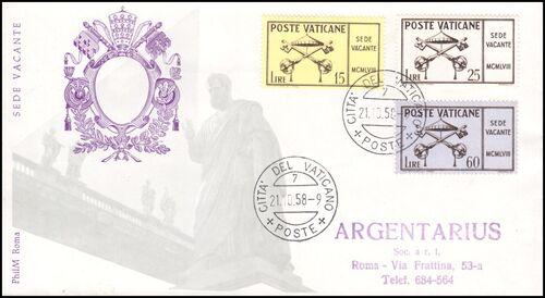1958 Sede Vacante - Tod von Papst Pius XII ...