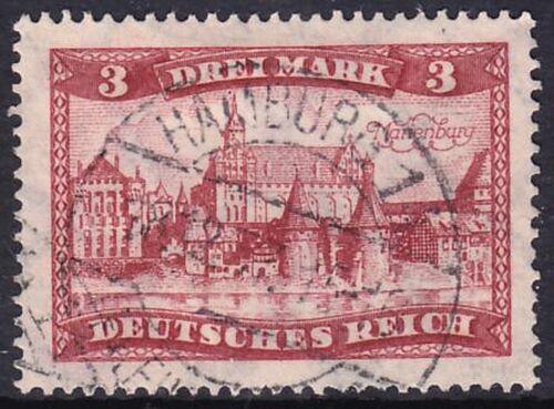 1924 Freimarke: Bauwerke 3 Mark