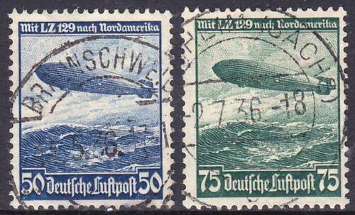 1936 Flugpostmarken: Fahrt des LZ 129 nach Nordamerika