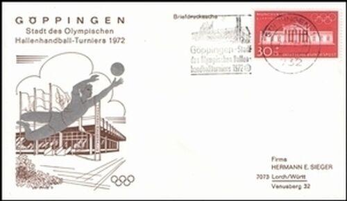 1972 olympische spiele werbe sonderstempel g ppingen briefmarken versand. Black Bedroom Furniture Sets. Home Design Ideas