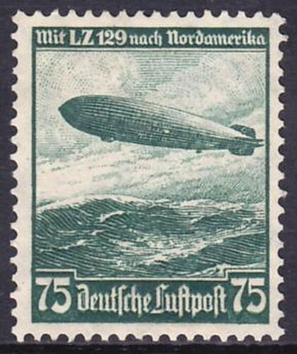 1936 Flugpostmarke: Fahrt des LZ 129 nach Nordamerika